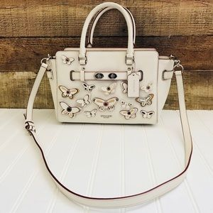 Coach leather butterfly satchel